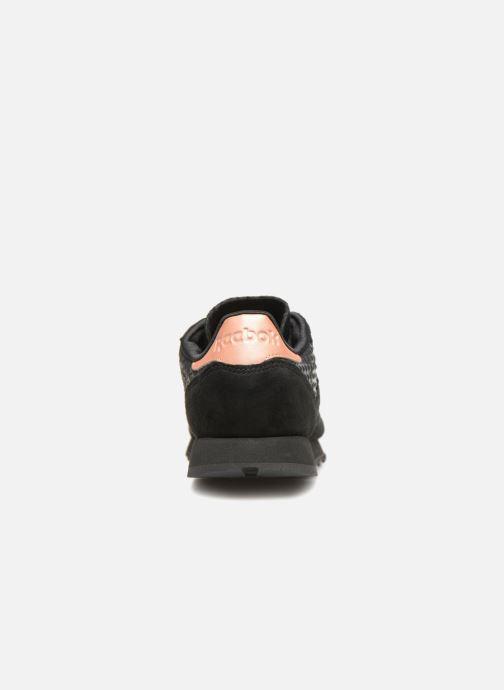 Sneaker Reebok CL LTHR schwarz ansicht von rechts