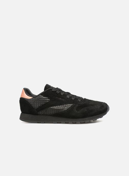 Sneaker Reebok CL LTHR schwarz ansicht von hinten