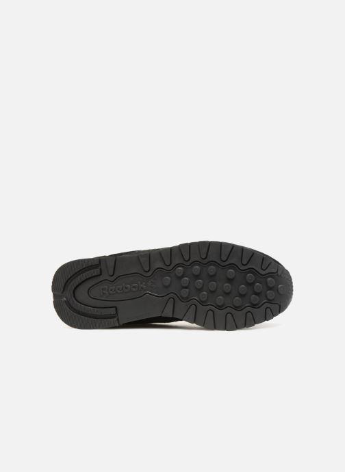 Sneaker Reebok CL LTHR schwarz ansicht von oben