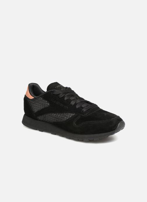 Sneaker Reebok CL LTHR schwarz detaillierte ansicht/modell