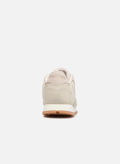Sneaker Reebok CL LTHR beige ansicht von rechts