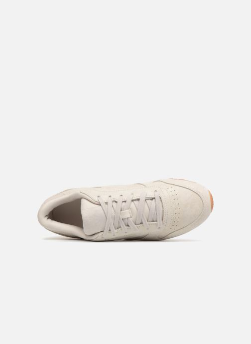 Trainers Reebok CL LTHR Beige view from the left