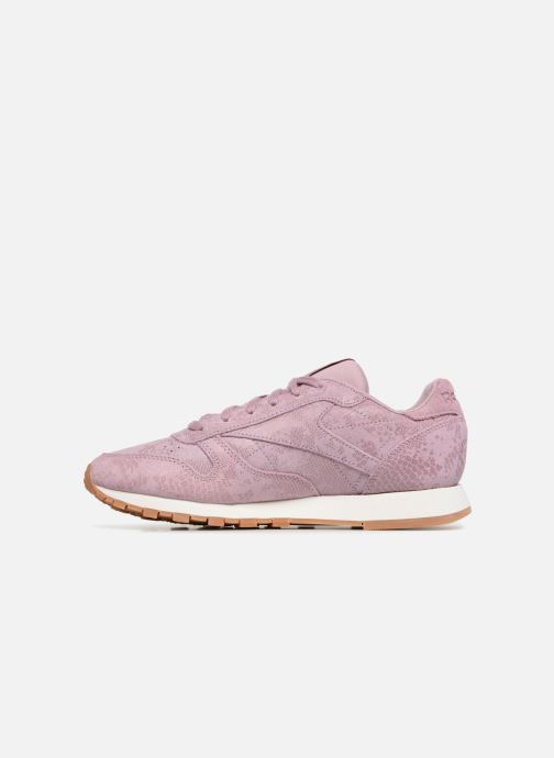 Baskets Reebok CL LTHR Violet vue face