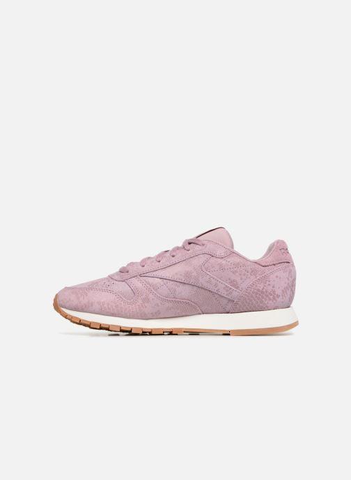 Sneakers Reebok CL LTHR Viola immagine frontale