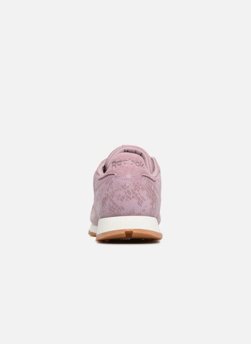 Sneaker Reebok CL LTHR lila ansicht von rechts