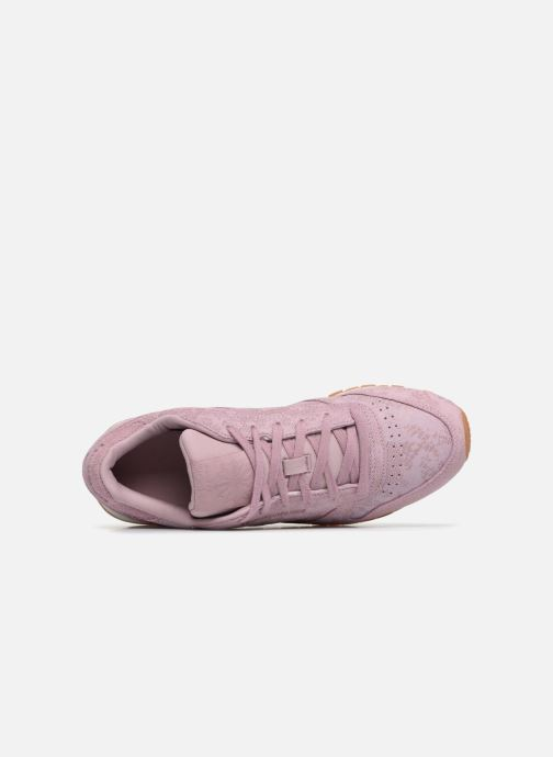 Sneakers Reebok CL LTHR Viola immagine sinistra