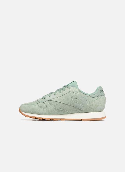 Sneaker Reebok CL LTHR grün ansicht von vorne