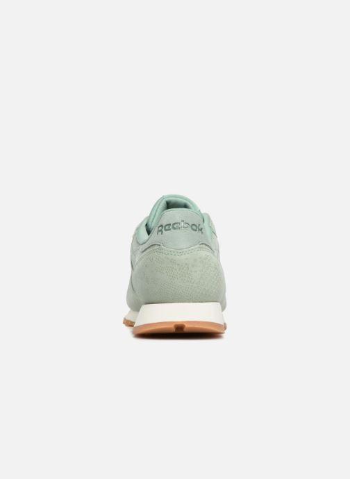 Sneaker Reebok CL LTHR grün ansicht von rechts