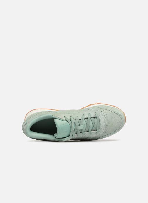 Sneaker Reebok CL LTHR grün ansicht von links