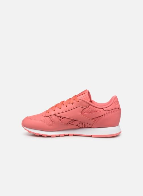 Baskets Reebok CL LTHR Rose vue face