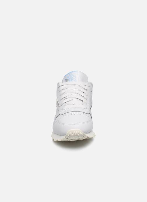 Sneaker Reebok CL LTHR grau schuhe getragen