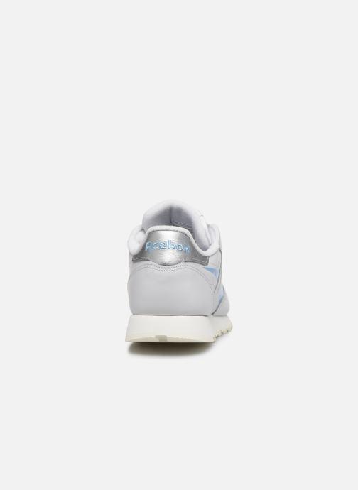 Sneaker Reebok CL LTHR grau ansicht von rechts