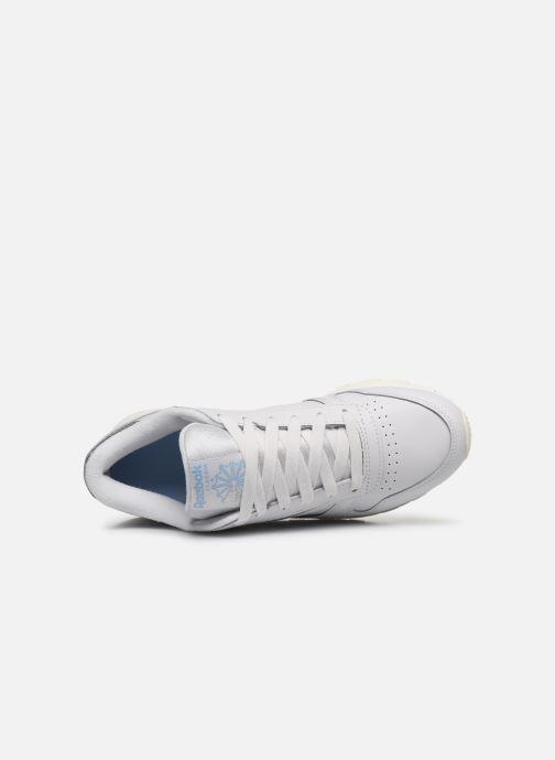 Sneaker Reebok CL LTHR grau ansicht von links