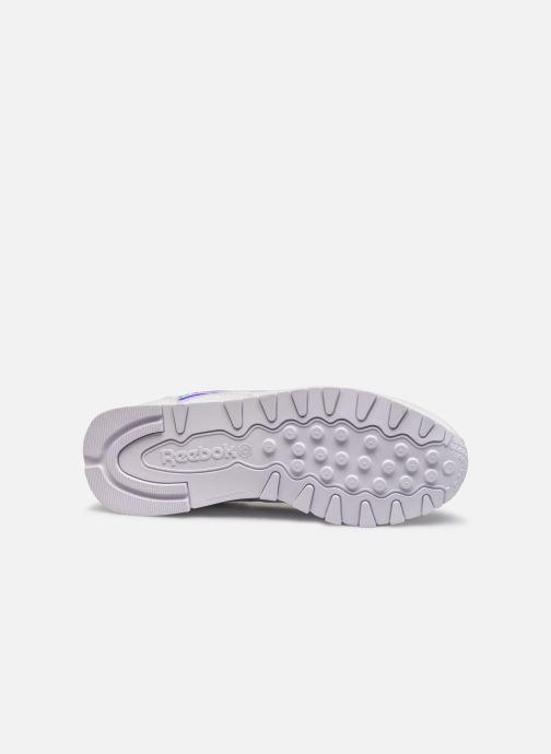 Sneaker Reebok CL LTHR weiß ansicht von oben