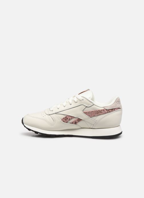 Baskets Reebok CL LTHR Blanc vue face