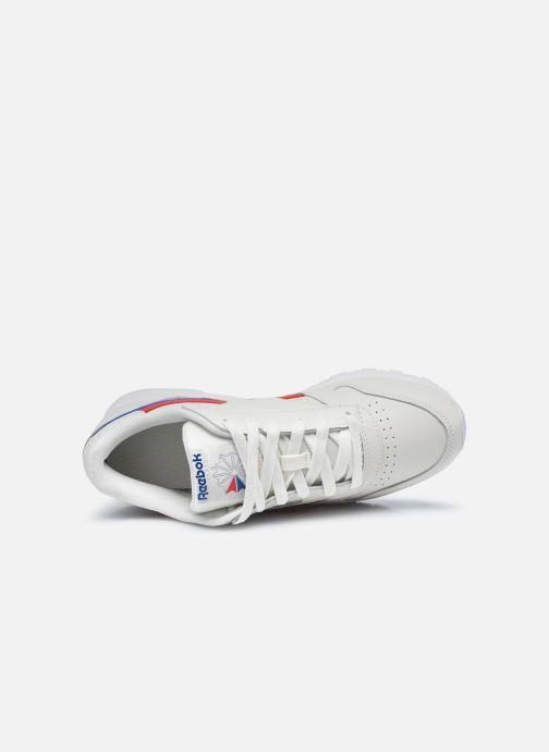 Sneaker Reebok CL LTHR weiß ansicht von links