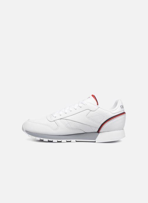 Sneaker Reebok CL LEATHER MU weiß ansicht von vorne