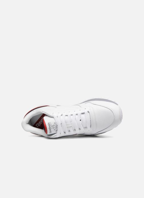 Sneaker Reebok CL LEATHER MU weiß ansicht von links