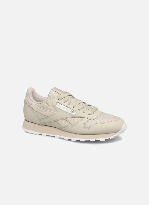 Baskets Reebok CL LEATHER MU Marron vue détail/paire