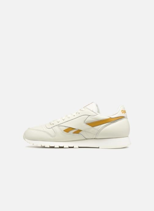 Deportivas Reebok CL LEATHER MU Blanco vista de frente