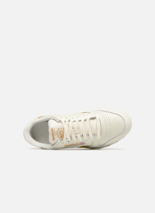 Sneaker Reebok CL LEATHER MU weiß ansicht von links