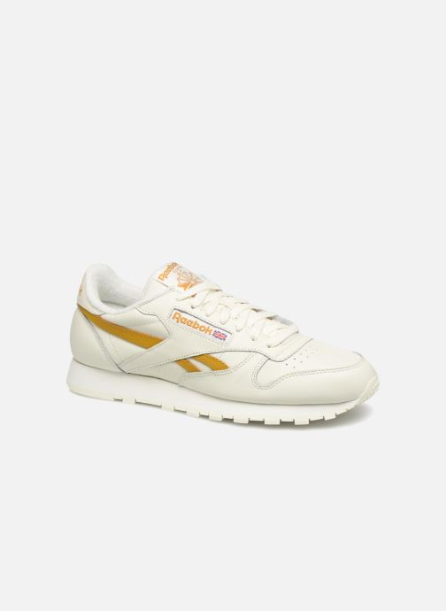 Trainers Reebok CL LEATHER MU White detailed view/ Pair view