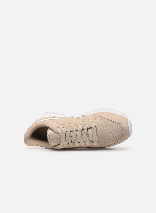 Sneaker Reebok CL LEATHER MU beige ansicht von links