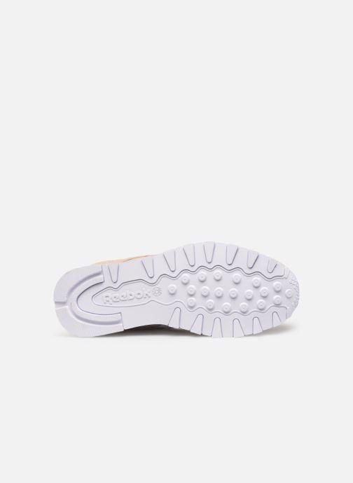 Sneaker Reebok CL LEATHER MU beige ansicht von oben