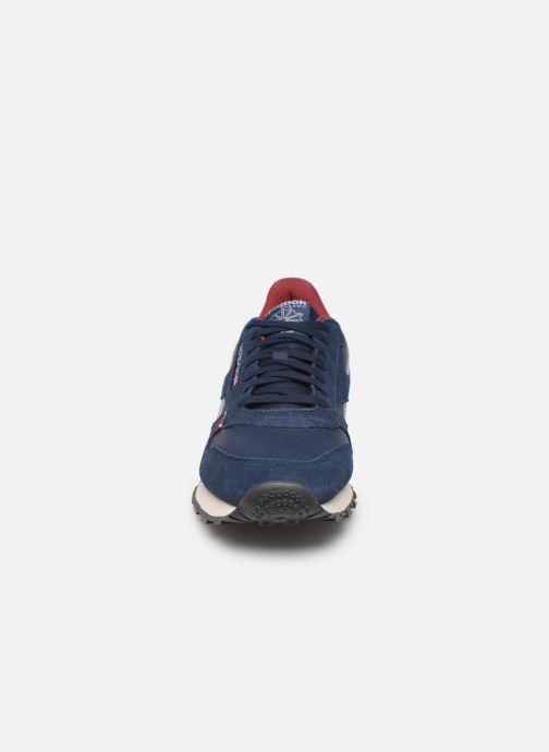 Baskets Reebok CL LEATHER MU Bleu vue portées chaussures