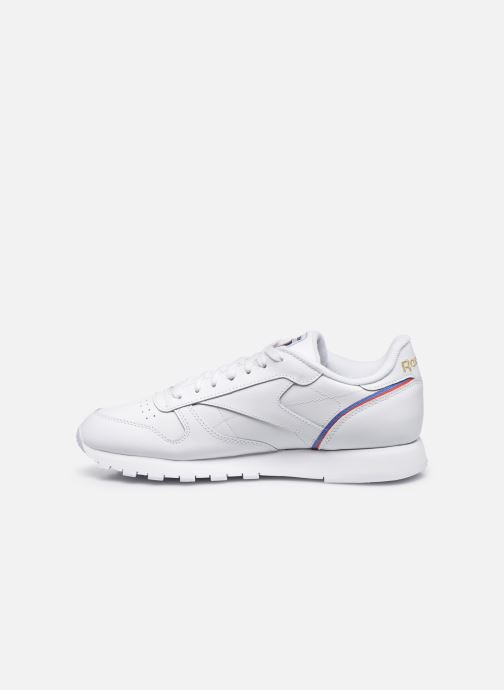 Sneakers Reebok CL LEATHER MU Hvid se forfra