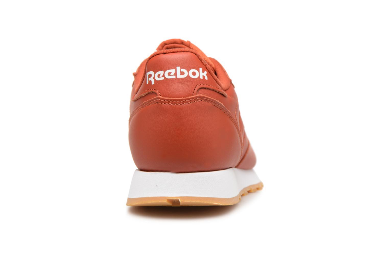 Baskets Reebok CL LEATHER MU Rouge vue droite
