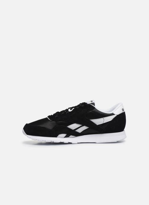 Sneaker Reebok CL NYLON M schwarz ansicht von vorne