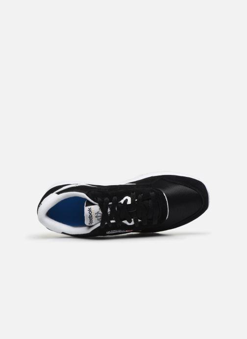 Sneaker Reebok CL NYLON M schwarz ansicht von links