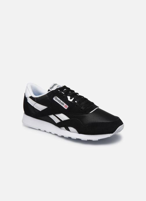 Sneaker Reebok CL NYLON M schwarz detaillierte ansicht/modell