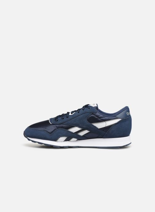 Baskets Reebok CL NYLON M Bleu vue face