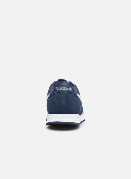 Deportivas Reebok CL NYLON M Azul vista lateral derecha