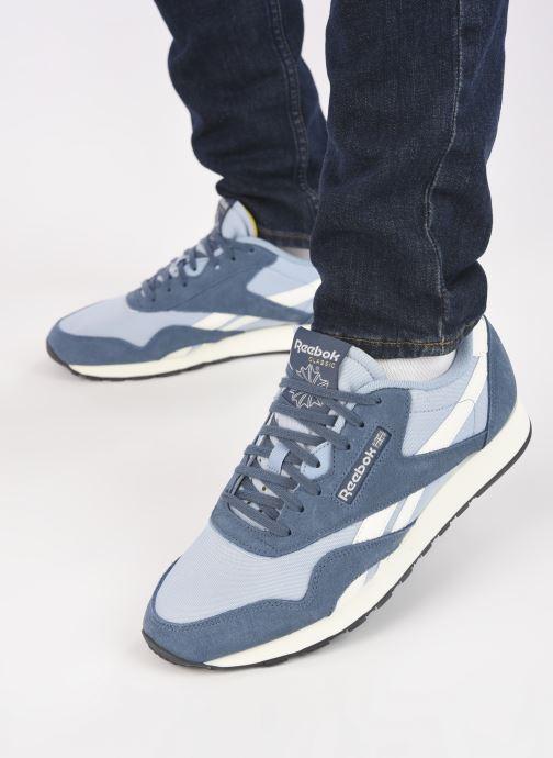 Sneaker Reebok CL NYLON M blau ansicht von unten / tasche getragen