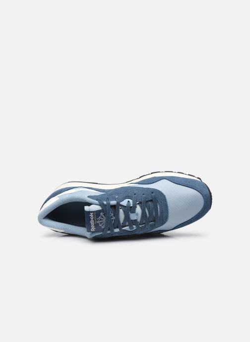 Sneaker Reebok CL NYLON M blau ansicht von links