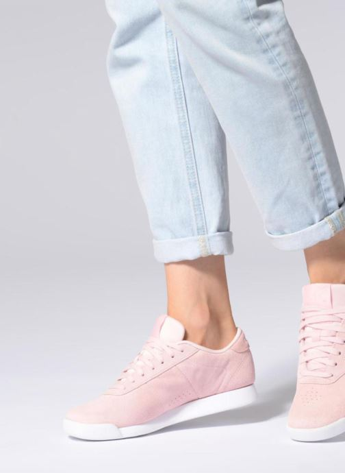 Trainers Reebok PRINCESS LTHR Pink view from underneath / model view