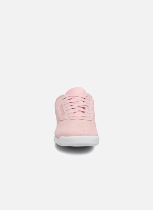 Baskets Reebok PRINCESS LTHR Rose vue portées chaussures