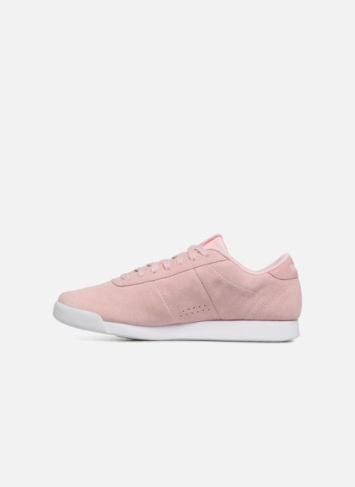 Sneakers Reebok PRINCESS LTHR Rosa immagine frontale