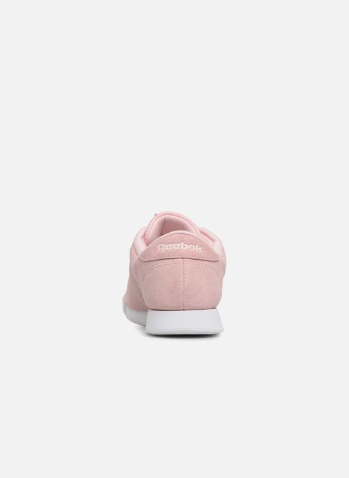 Trainers Reebok PRINCESS LTHR Pink view from the right