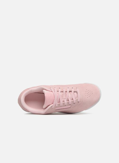 Trainers Reebok PRINCESS LTHR Pink view from the left