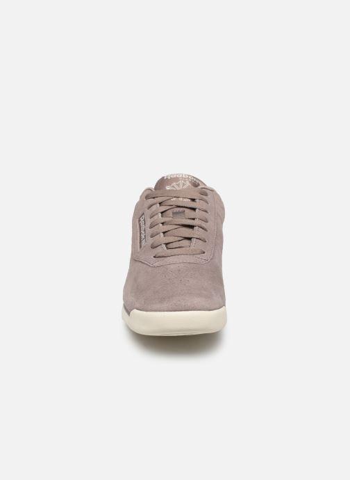 Sneaker Reebok PRINCESS LTHR lila schuhe getragen