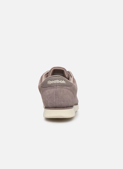 Sneakers Reebok PRINCESS LTHR Paars rechts
