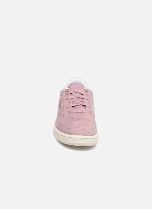 Baskets Reebok Club C 85 1 Rose vue portées chaussures