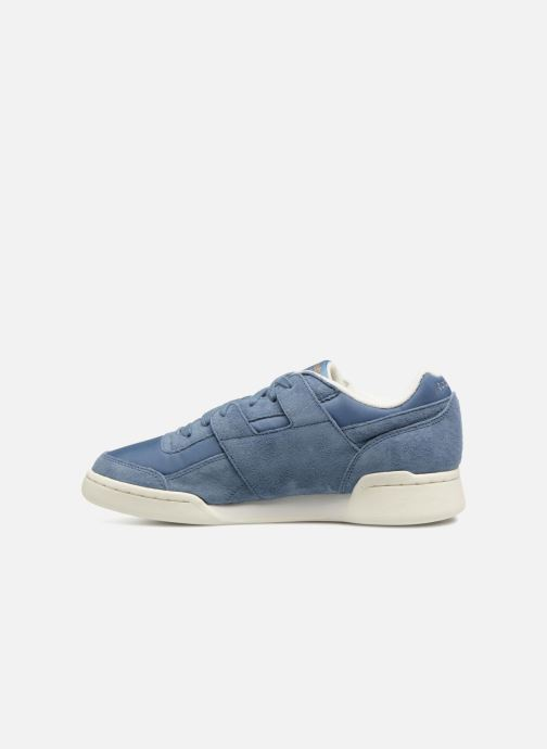 Trainers Reebok WORKOUT LO PLUS Blue front view