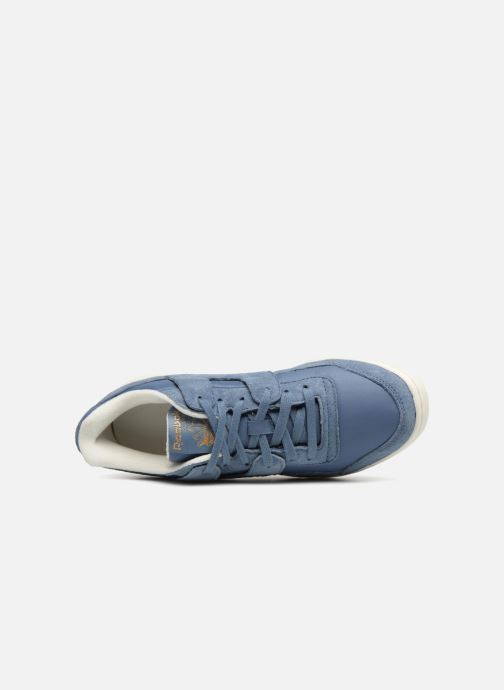 Trainers Reebok WORKOUT LO PLUS Blue view from the left