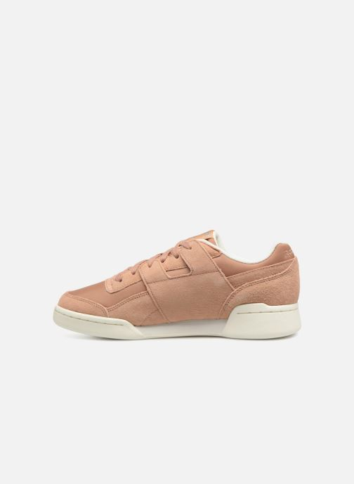 Trainers Reebok WORKOUT LO PLUS Brown front view