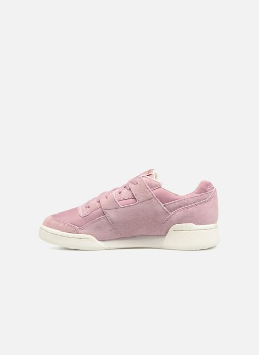 Trainers Reebok WORKOUT LO PLUS Pink front view